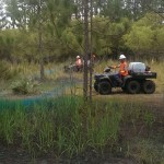 Herbicide application via 6X6 ATV for cogon grass control