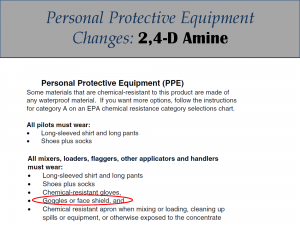 2,4-D Amine PPE Label Changes: Label 2