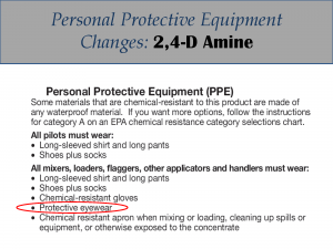 2,4-D Amine PPE Label Changes: Label 3