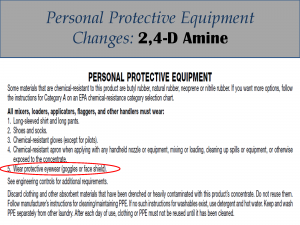 2,4-D Amine PPE Label Changes: Label 4