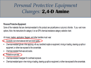 2,4-D Amine PPE Label Changes: Label 5
