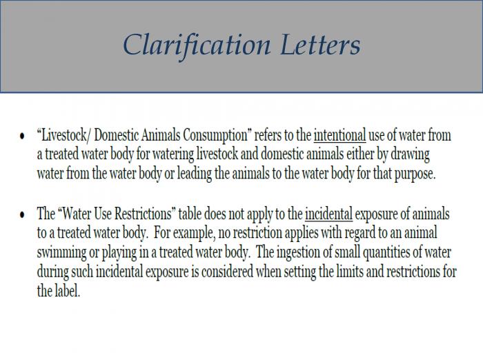 Clarification Letters