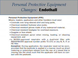 Endothall PPE Label Changes: Label 2
