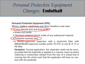 Endothall PPE Label Changes: Label 3