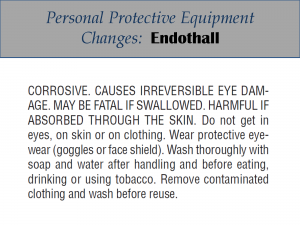 Endothall PPE Label Changes: Label 4
