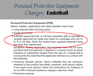 Endothall PPE Label Changes: Label 5