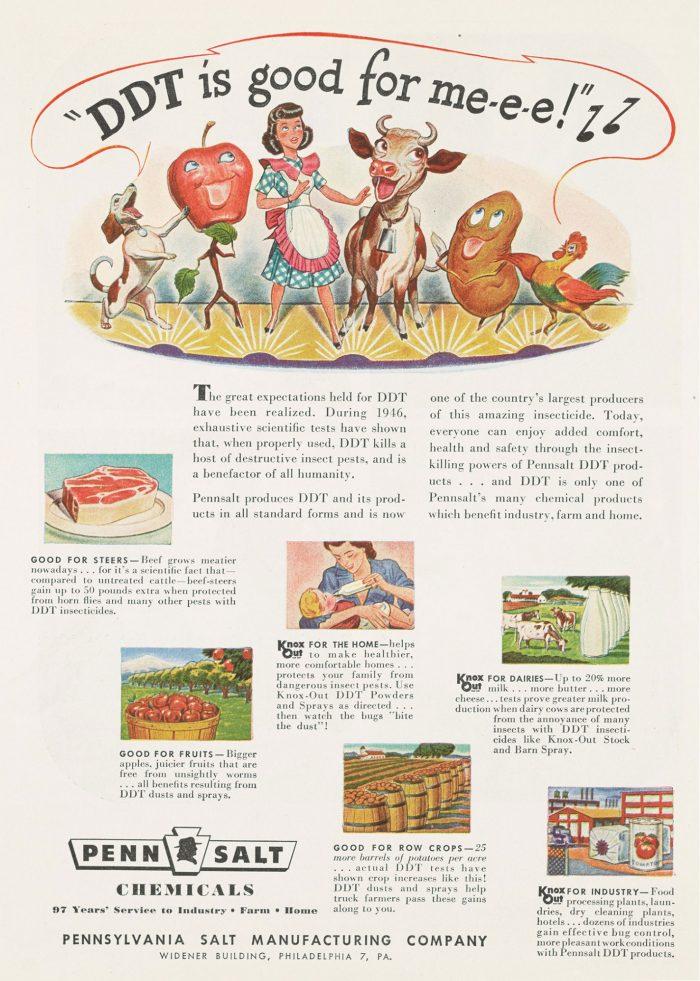 Advertisement propaganda DDT is good for me-e-e!!